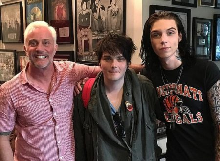 Gerard Way in studio con Andy Biersack.