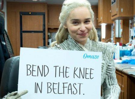 Emilia Clarke accompagnerà sul set di Game of Thrones il vincitore di un concorso per beneficenza