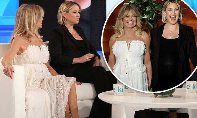Kate Hudson incinta del terzo figlio all'Ellen DeGeneres Show