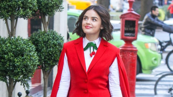Riverdale: Lucy Hale sul set dell'episodio crossover con Katy Keene